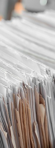 stacks of paper recycling